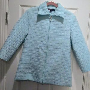 Anne Klein Quilted Jacket - Sea Foam Green - S